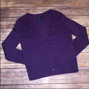 AMERICAN EAGLE cardigan purple long sleeve v-neck